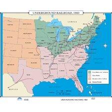 U.S. History Wall Maps - Underground Railroad