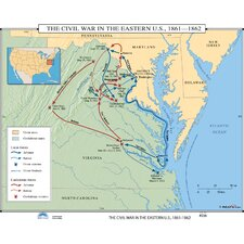U.S. History Wall Maps - Civil War in Eastern U.S.