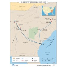 U.S. History Wall Maps - Sherman's March