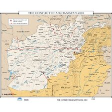 U.S. History Wall Maps - Conflict in Afghanistan 2001