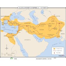 World History Wall Maps - Alexander's Empire