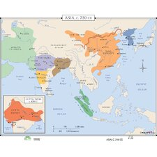 World History Wall Maps - Asia c.750 CE