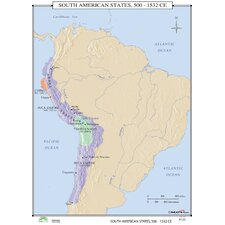 World History Wall Maps - South American States