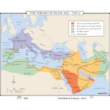 World History Wall Maps - Spread of Islam
