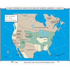 World History Wall Maps - Early Peoples and Cultures of North America