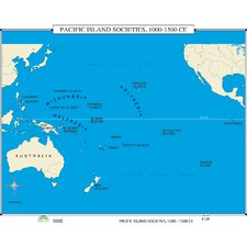 World History Wall Maps - Pacific Island Societies