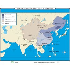 World History Wall Maps - China in Qing Dynasty