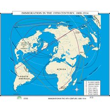 World History Wall Maps - Immigration in 19th Century