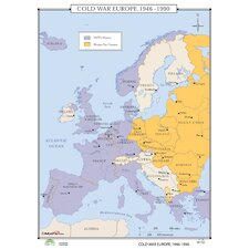 World History Wall Maps - Cold War Europe