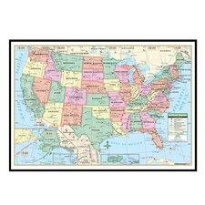 United States Primary Mounted Framed Wall Map