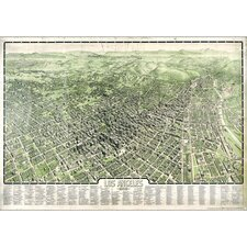Los Angeles 1909 Historical Print Mounted Wall Map