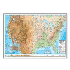 <strong>Universal Map</strong> United States Advanced Physical Mounted Framed Wall Map