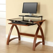 Curve Writing Desk with Modesty Panel