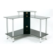 Classic Executive Desk with Black Glass