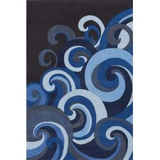 Lil Mo Hipster Surf Blue Area Rug