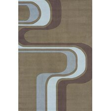 Hipster Army Brown Area Rug