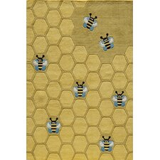 Lil Mo Whimsy Honey Bee Kids Area Rug