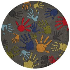 <strong>Momeni Lil' Mo</strong> Lil Mo Whimsy Grey Finger Paint Kids Rug