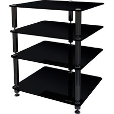 <strong>NorStone</strong> Bergen 2 4-Shelf Hifi Stand in Glossy Black