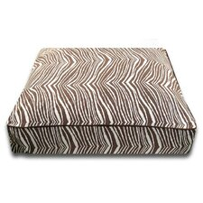 Rectangle Bed with Easy-Wash Cover in Brown Zebra
