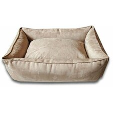 Lounge Dog Bed in Camel / Suede