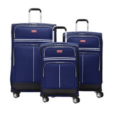 IZOD Varsity 3 Piece Spinner Suitcase Set