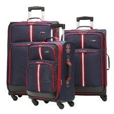 IZOD Collegiate 3 Piece Spinner Suitcase Set