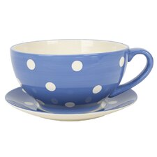 Living Round Cup and Saucer Planter