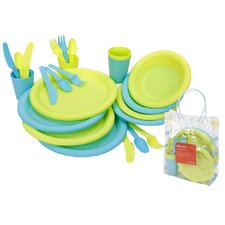 25 Piece Picnic Set in Green / Blue