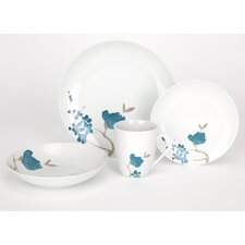 Sakura 16 Piece Porcelain Dinner Set