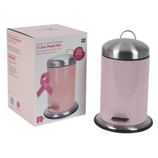 Breast Cancer Campaign 3-Litre Pedal Bin