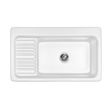 "<strong>CorStone</strong> Advantage Series 37"" x 22"" Greystone Self Rimming Single Bowl Kitchen Sink"