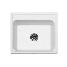 "<strong>CorStone</strong> Advantage Series 25"" x 22"" Shannock Single Bowl Self Rimming Kitchen Sink"