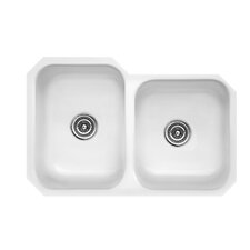 "Optimum Series 30.5"" x 19.75"" Glendale Double Bowl Undermount Kitchen Sink"