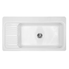 "Advantage Series 41"" x 22"" Sakonnet Single Bowl Self Rimming Kitchen Sink"