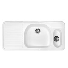 "Advantage Series 48"" x 22"" Wakefield Double Bowl Self Rimming Kitchen Sink"