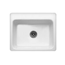 "Advantage Series 25"" x 22"" Foster Single Bowl Self Rimming Kitchen Sink"
