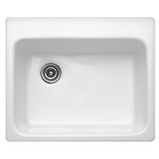 "Advantage Series 25"" x 22"" Bristol Single Bowl Self Rimming Kitchen Sink"