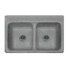 "Advantage Series 33"" x 22"" Greenwich 50/50 Double Bowl Classic Self Rimming Kitchen Sink"