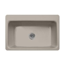 """Advantage Series 33"""" x 22"""" Coventry Single Bowl Extra Large Self Rimming Kitchen Sink"""