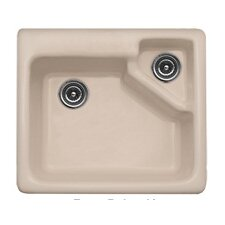 "Advantage Series 25"" x 22"" Quidnick Single Bowl Self Rimming Kitchen Sink"