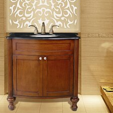 "Georgiana 36"" Single Sink Vanity with Black Galaxy Granite Top"