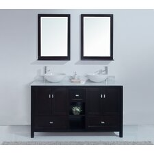"<strong>Stufurhome</strong> 60"" Dakota Double Sink Vanity Set"