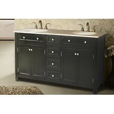 "<strong>Stufurhome</strong> 72"" Vesta Double Sink Vanity Set"