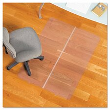 <strong>ES Robbins Corporation</strong> Foldable Rectangle Chair Mat, Task Series for Hard Floors