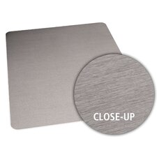 Brushed Stainless Design Chair Mat