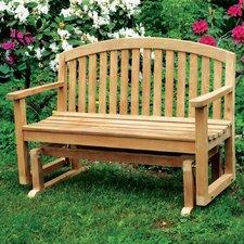 Fanback Teak Garden Bench