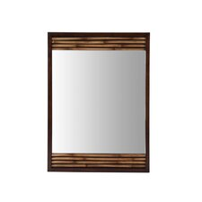 "Bambu 26"" x 36"" Mirror in Dark Bamboo"