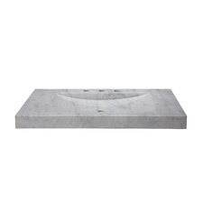 "Marble 36"" Vanity Top with Integrated Bowl"