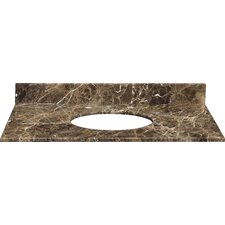 "<strong>Xylem</strong> 31"" Marble Vanity Top for Undermount Sink with Backsplash"